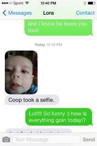 Coop selfie