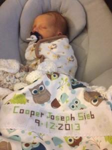 cooper in blanket