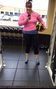 Yes, I took a gym selfie. And yes, I was terrified of getting caught.