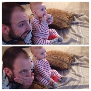 You got really excited and into the March Madness games with dad.