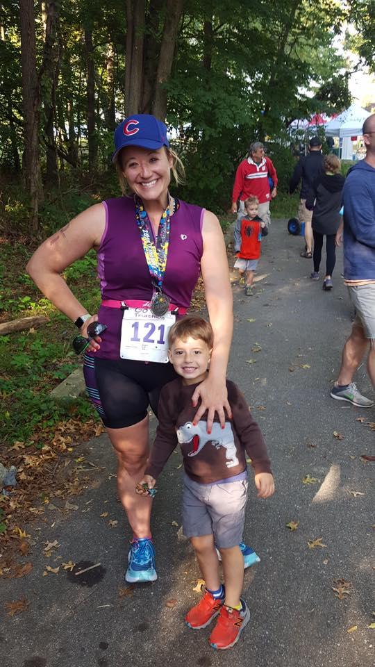 Ashley and Coop - triathlon