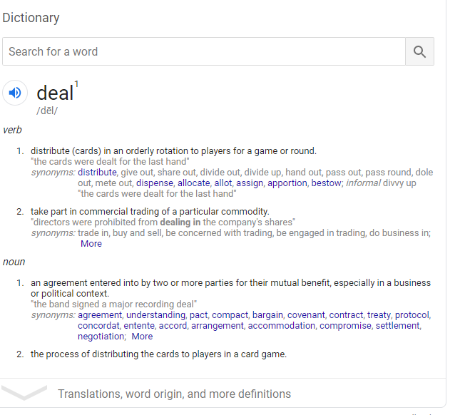 Deal definition