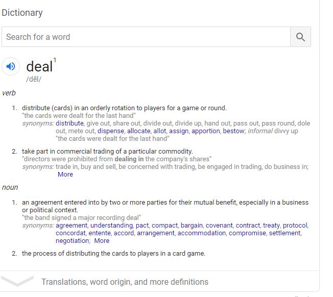 Deal definition